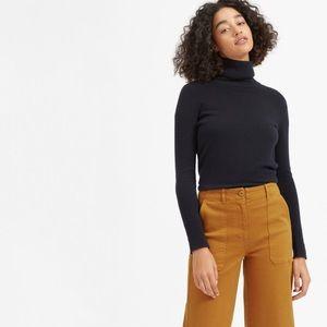 Everlane Wide Leg Crop Utility pants golden size 0